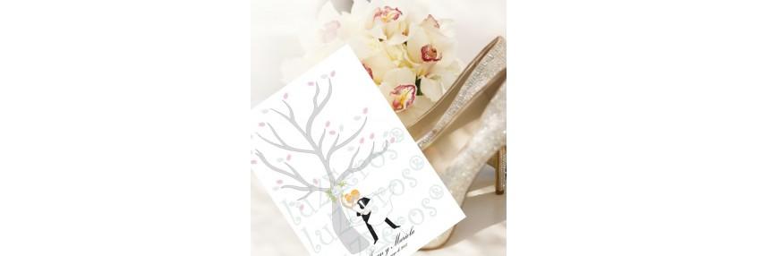 Cuadros de huellas bodas