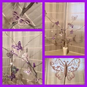 Centro de mesa Mariposas